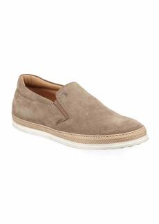 Tod's Suede Espadrille Slip-On Sneaker  Tan