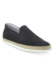 Tod's Suede Espadrille Sneakers