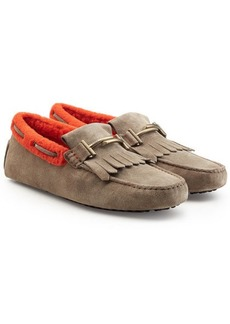 Tod's Suede Loafers with Shearling Insole