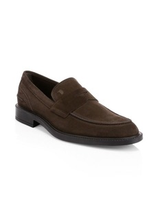 Tod's Suede Moccasin Loafers