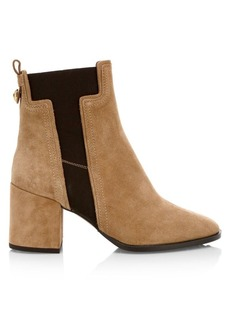 Tod's T Elastic Suede Chelsea Boots