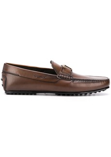 Tod's T plaque leather loafers