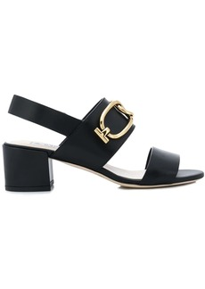 Tod's T-ring slingback sandals