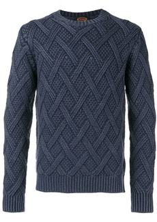 Tod's textured diamond patterned sweater