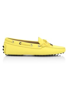 Tod's Tie Detail Leather Driver Loafers