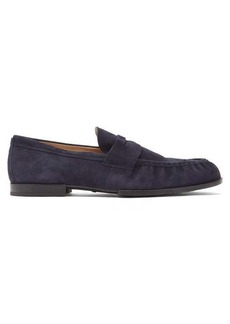 Tod's Amalfi penny-strap suede loafers