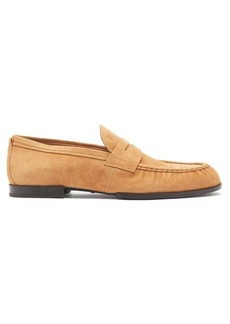 Tod's Amalfi suede penny loafers
