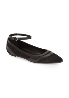 Tod's Ankle Strap Pointy Toe Flat (Women) (Nordstrom Exclusive Color)