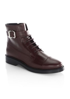 Tod's Buckle Combat Boots