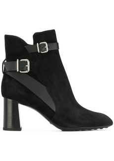 Tod's buckle strap ankle boots - Black