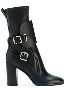 Tod's buckled midi boots - Black