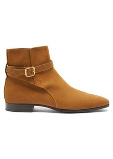 Tod's Buckled-suede ankle boots