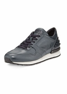 Tod's Men's Burnished Leather Trainer Sneakers
