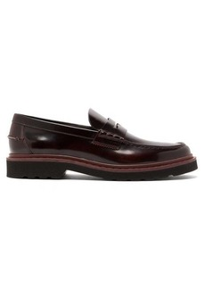 Tod's Carrarmato leather penny loafers
