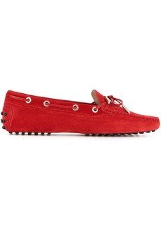 Tod's casual logo lace-up loafers - Red