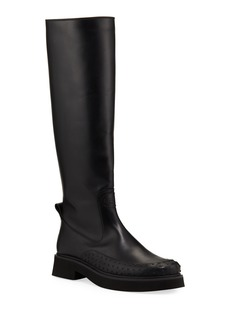Tod's Chunky Leather High Shaft Boots