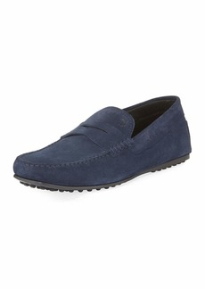 Tod's City Gommini Suede Penny Loafer