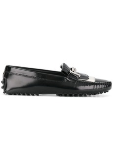 Tod's classic fringed loafers - Black
