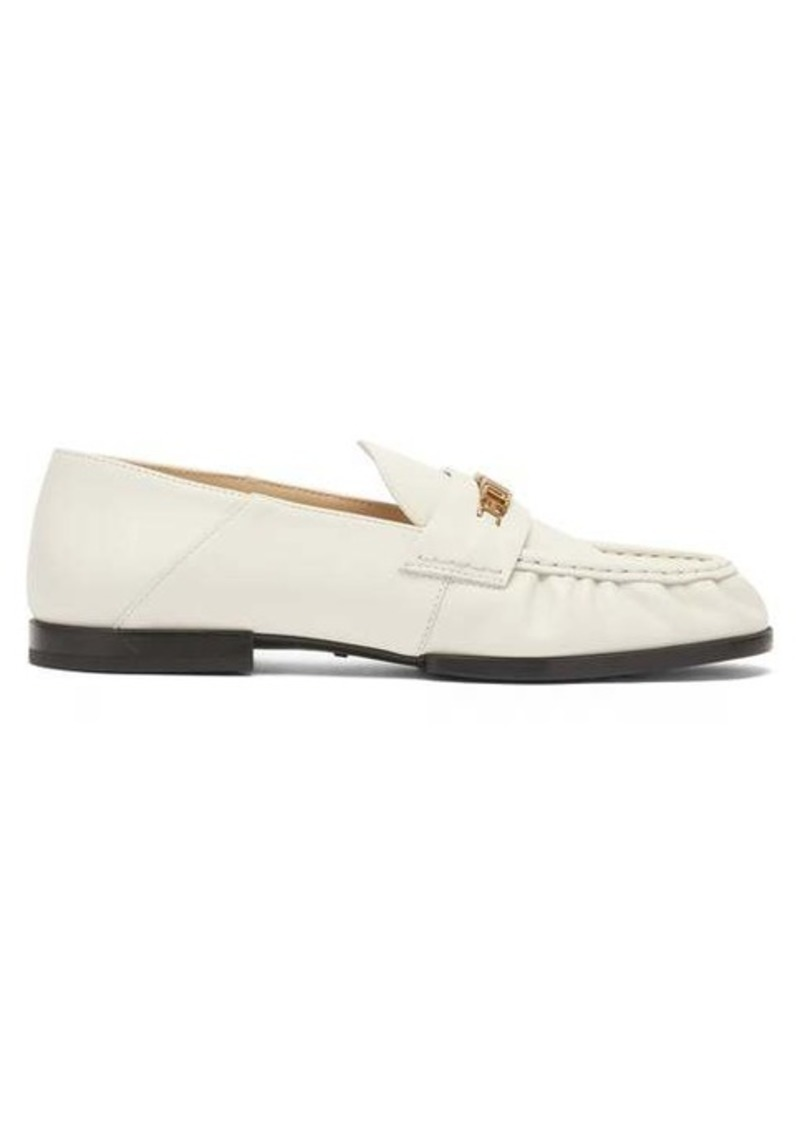 Tod's Collapsible-heel leather loafers