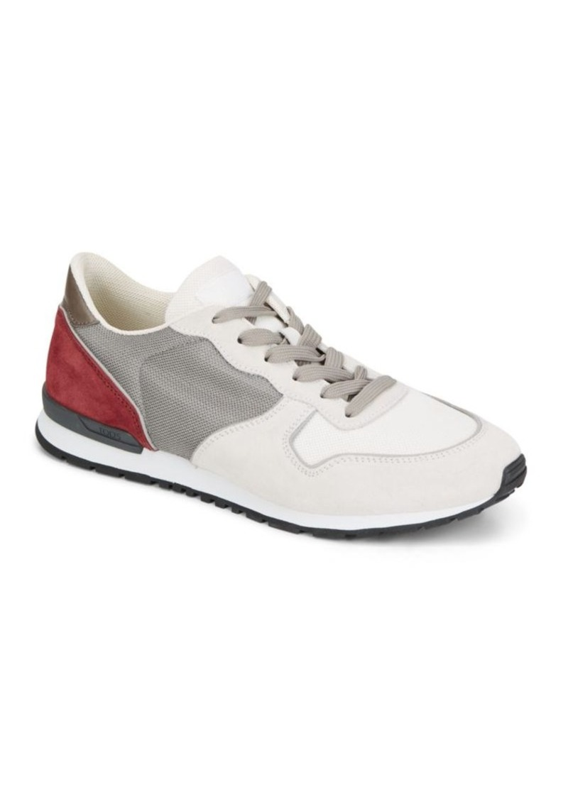 Tod's Contrast Color Vintage Sneakers