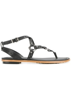 Tod's crisscross strap sandals