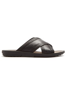 Tod's Cross-strap leather sandals