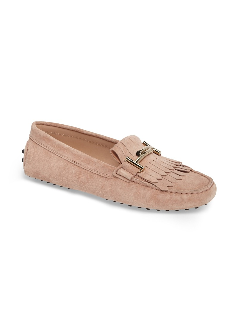 cbc372285694c Tod's Tod's Double T Fringe Gommino Loafer (Women) | Shoes