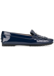 Tod's Double T fringed loafers - Blue