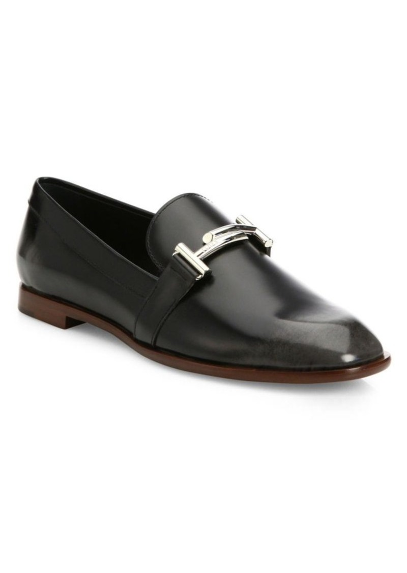 d412ddcde28 Tod s Tod s Double T Leather Loafers