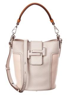 Tod's Double T Mini Leather Bucket Bag