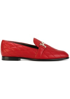 Tod's Double T quilted loafers - Red