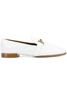 Tod's Double T quilted loafers - White