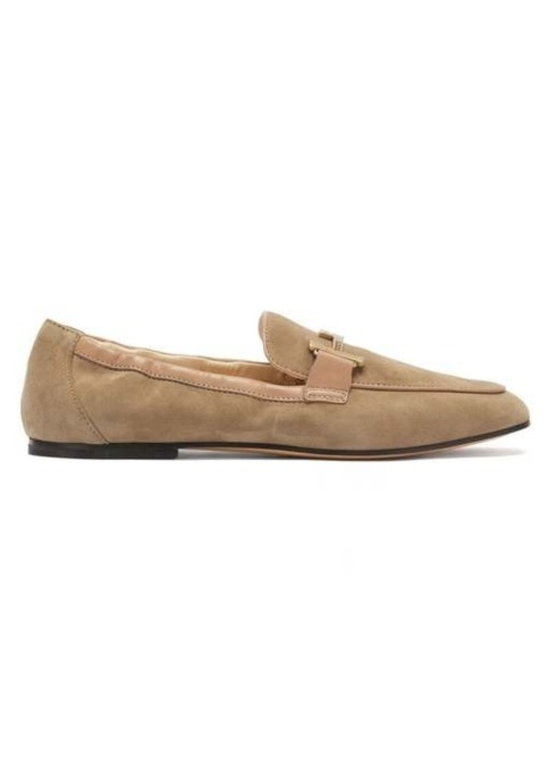 Tod's Double-T suede loafers
