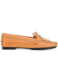 Tod's embossed style loafers - Brown