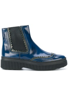 Tod's flatform chelsea boots - Blue