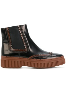 Tod's flatform chelsea boots - Brown