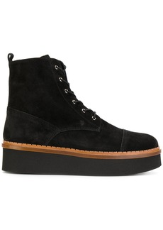 Tod's flatform lace-up ankle boots - Black