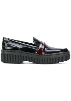 Tod's flatform loafers - Black