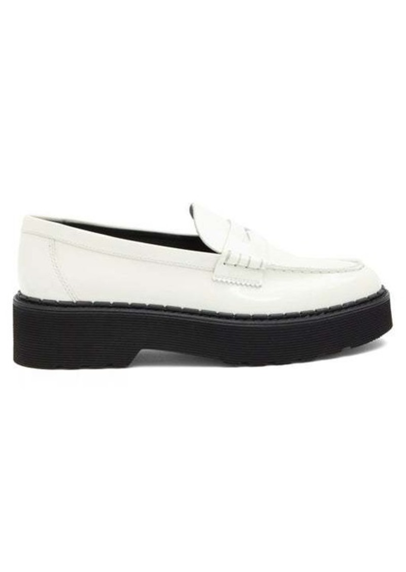Tod's Flatform patent-leather penny loafers
