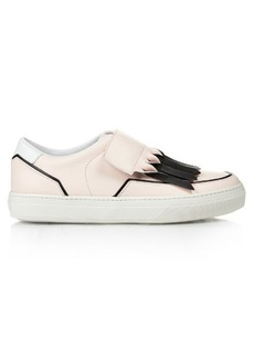 Tod's Frangia Velcro-fastening leather trainers
