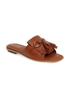 Tod's Fringe Slide Sandal (Women)