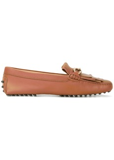 Tod's fringed bit loafers - Brown