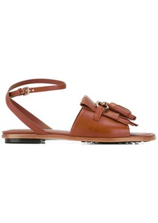 Tod's fringed flat sandals - Brown