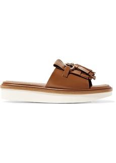 Tod's Fringed leather platform sandals