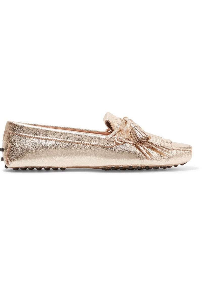 Lowest Price Sale Online Tod's Gommino Embellished Metallic Textured-leather Loafers Inexpensive Cheap Price 2018 Sale Online Cheap Sale Best Wholesale 4hnVuLaNB