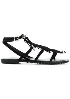 Tod's fringed multi-strap sandals - Black