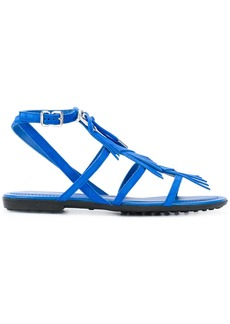 Tod's fringed multi-strap sandals - Blue