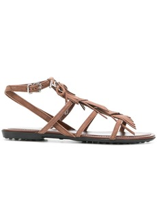 Tod's fringed multi-strap sandals - Brown