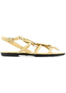 Tod's fringed sandals - Yellow & Orange