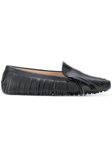 Tod's fringed slip-on loafers - Black
